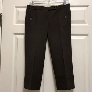The Limited Drew Fit Capri Brown Pants